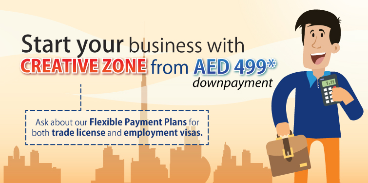 Start your business with CREATIVE ZONE for just AED 499