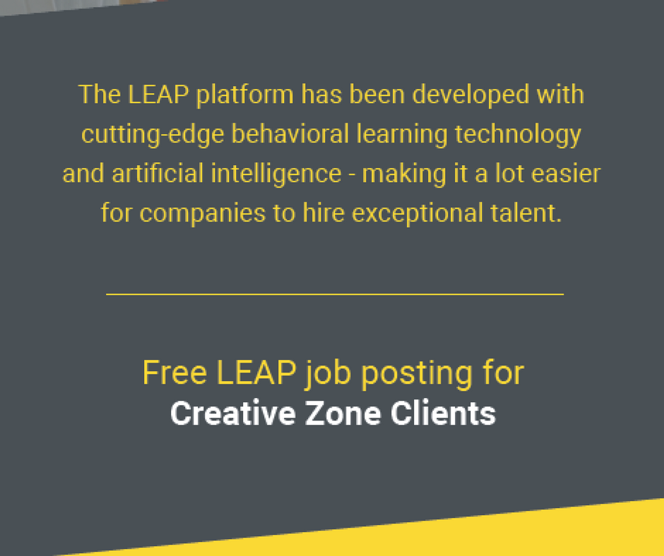 Leap promo for CREATIVE ZONE clients